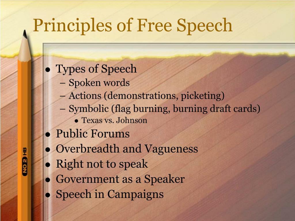 Principles of Free Speech