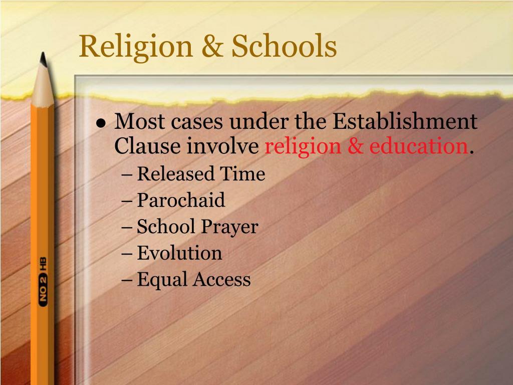 Religion & Schools