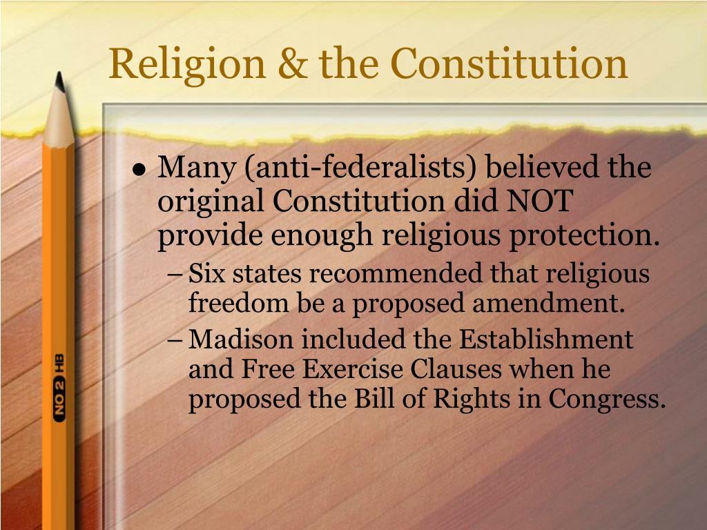 Religion & the Constitution