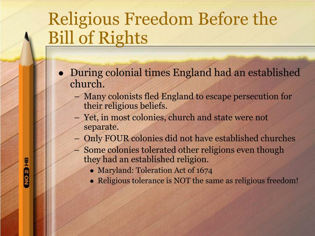Religious Freedom Before the