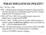 what influences polity