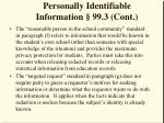 personally identifiable information 99 3 cont17