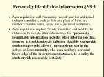 personally identifiable information 99 3
