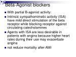 beta agonist blockers