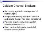 calcium channel blockers43