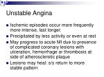 unstable angina53