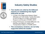 industry safety studies