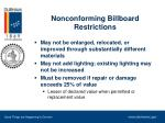 nonconforming billboard restrictions