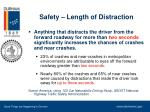 safety length of distraction