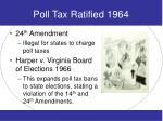 poll tax ratified 1964