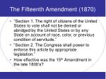 the fifteenth amendment 1870