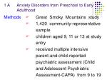 1 a anxiety disorders from preschool to early adulthood4