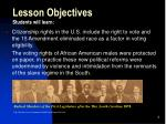 lesson objectives students will learn