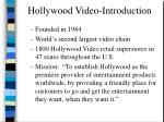 hollywood video introduction