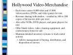 hollywood video merchandise
