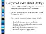 hollywood video retail strategy