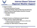 internet based tailored regional weather support11