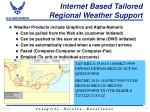 internet based tailored regional weather support12