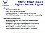 internet based tailored regional weather support17