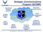 strategic communications program scomp