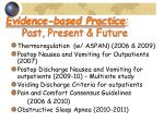 evidence based practice past present future