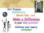get engage collaborate reach out and