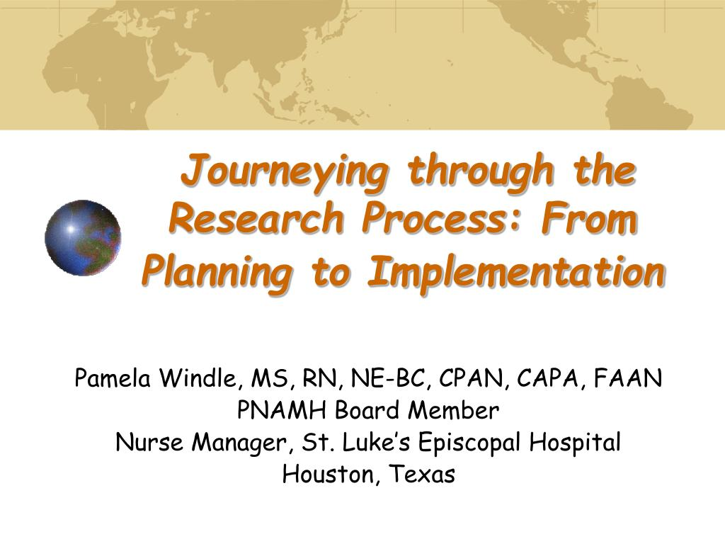 journeying through the research process from planning to implementation l.