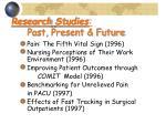 research studies past present future24