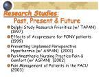 research studies past present future25