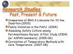 research studies past present future26