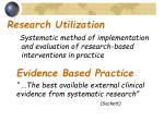research utilization