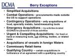 berry exceptions