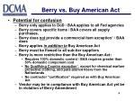 berry vs buy american act