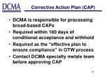 corrective action plan cap