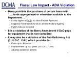 fiscal law impact ada violation