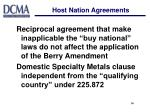 host nation agreements