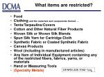 what items are restricted