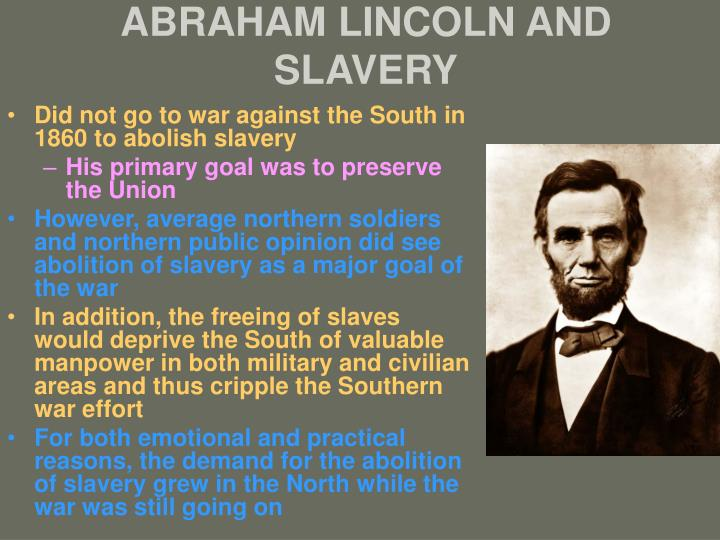 abraham lincoln and slavery n.