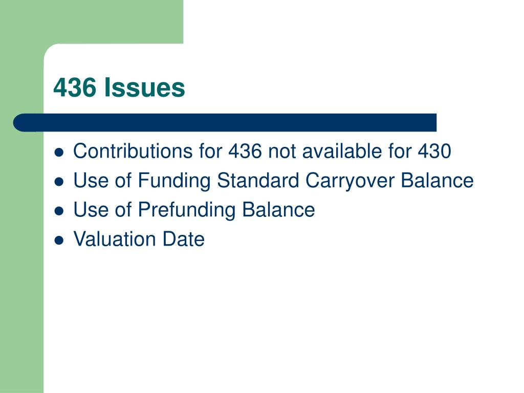 436 Issues