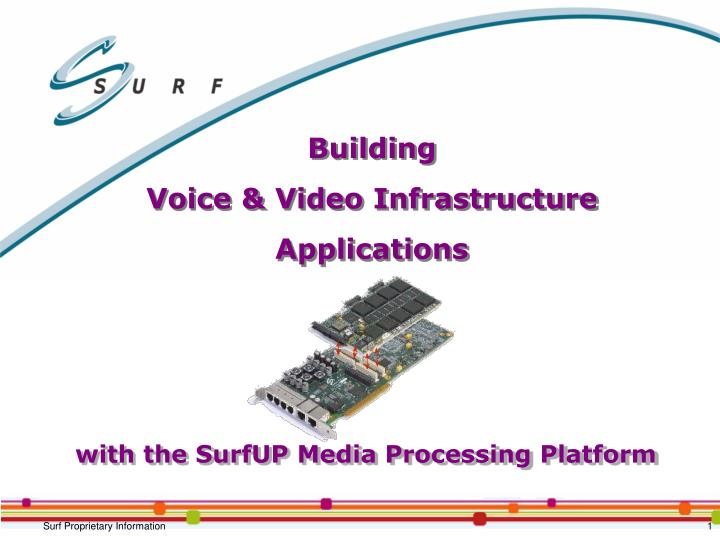 building voice video infrastructure applications n.