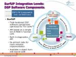 surfup integration levels dsp software components