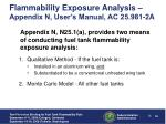 flammability exposure analysis appendix n user s manual ac 25 981 2a