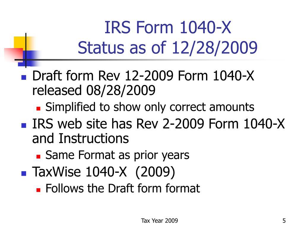 IRS Form 1040-X