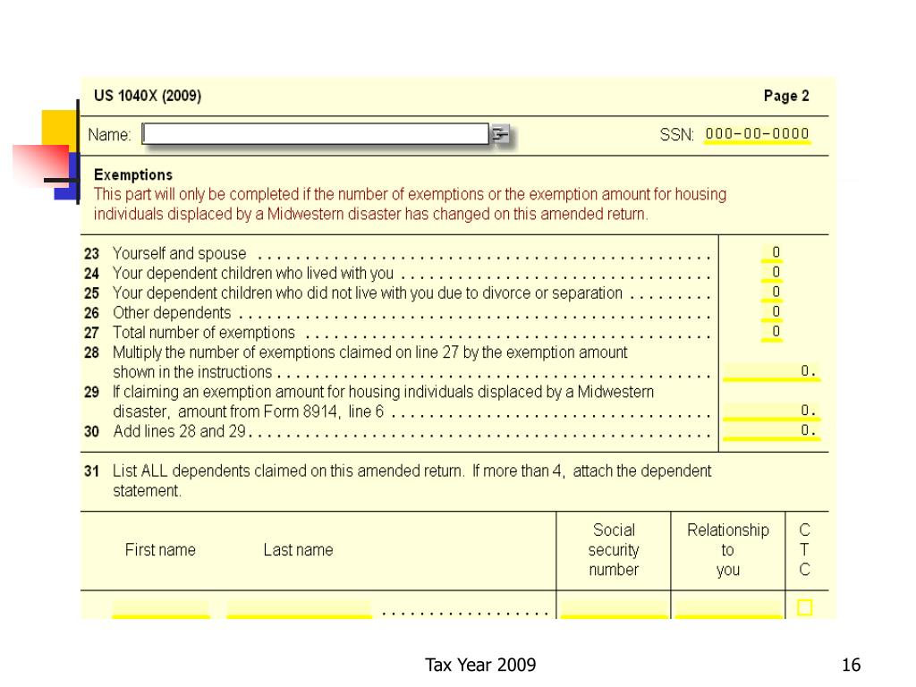 Tax Year 2009