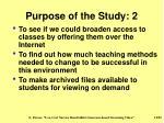 purpose of the study 2