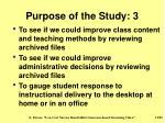 purpose of the study 3