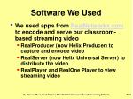 software we used