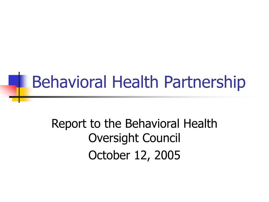 behavioral health partnership l.