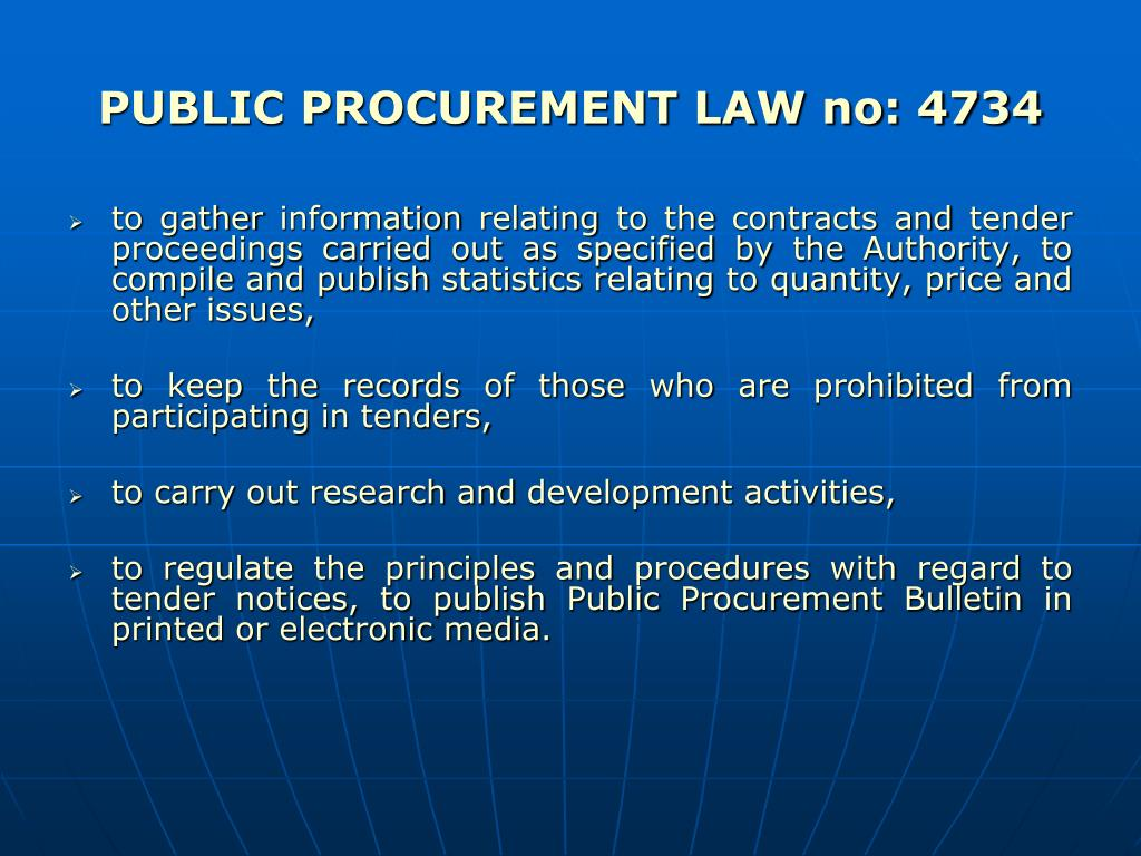 procurement law