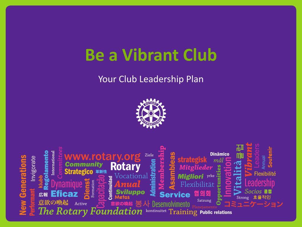 be a vibrant club l.